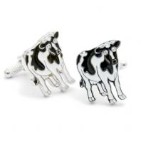 Black and White Cow Cufflinks by Onyx-Art Gift Boxed CK577